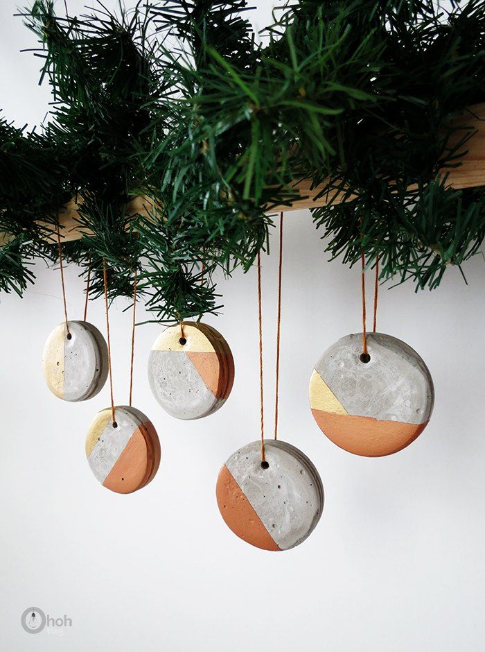 How to Make Christmas Concrete Ornaments Modern