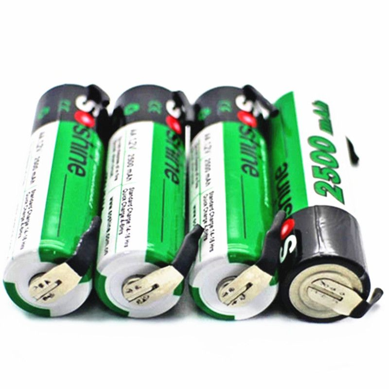 Soshine 4 Pcs Aa Nimh 2500mah 1 2v Rechargeable Battery With Tab Spot Welding Click Visit To Buy From Aliexpress Nimh Spot Welding Rechargeable Batteries