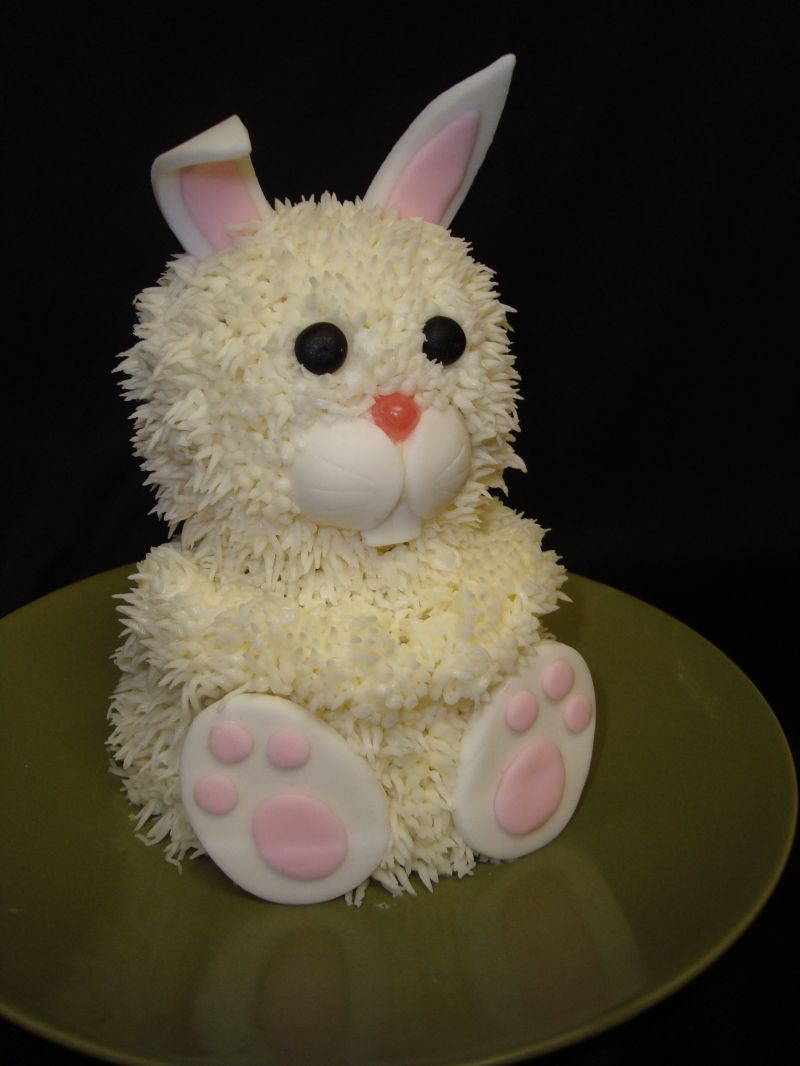 how to make a 3d easter bunny cake