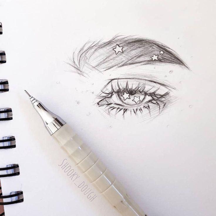 """• Nikki • on Instagram: """"Experimental thing, I never draw eyes close up or... #drawings #art"""