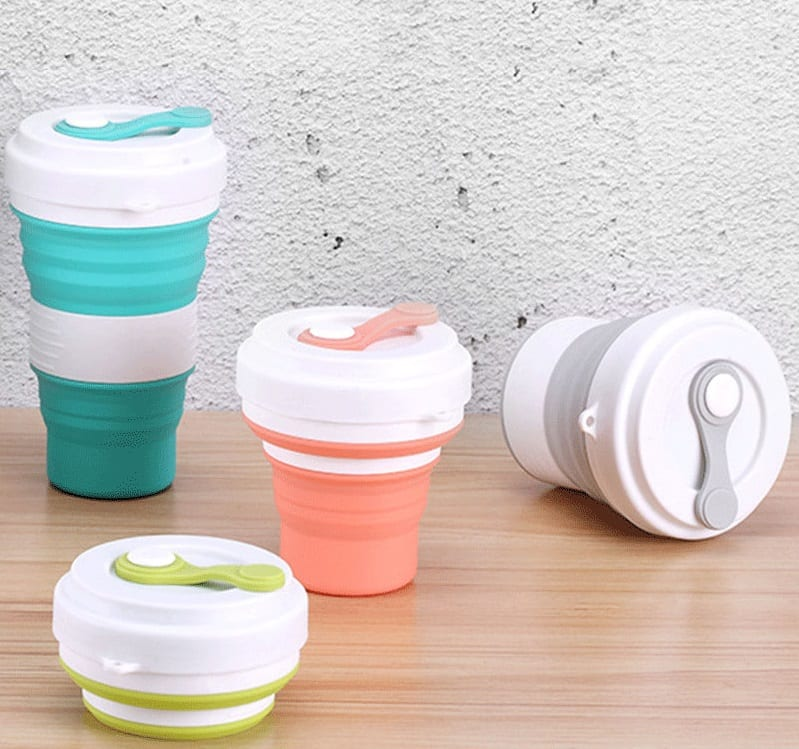 Portable Folding Cup Water Tea Wheat Straw Foldable Travel Collapsible 4J