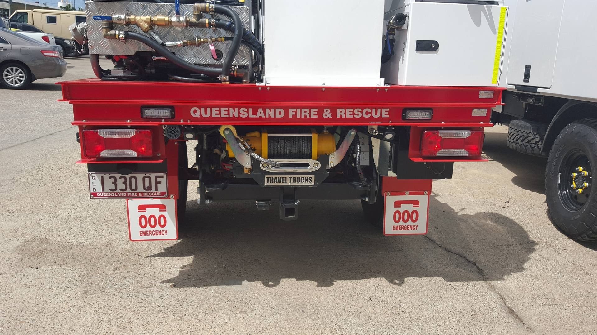 Sherpa winch fitted to QLD Fire & Rescue Truck  #offroad