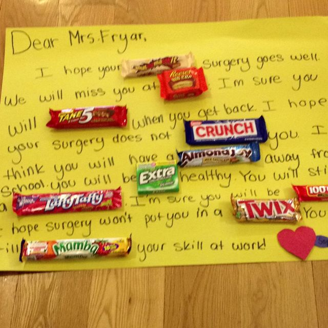 I got candy and made it into a card the candys ...