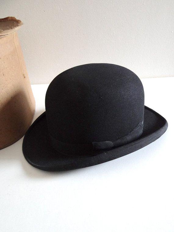 regarder vente chaude authentique sur les images de pieds de Chapeau melon ancien 1900 avec sa boîte Chapeau par ...