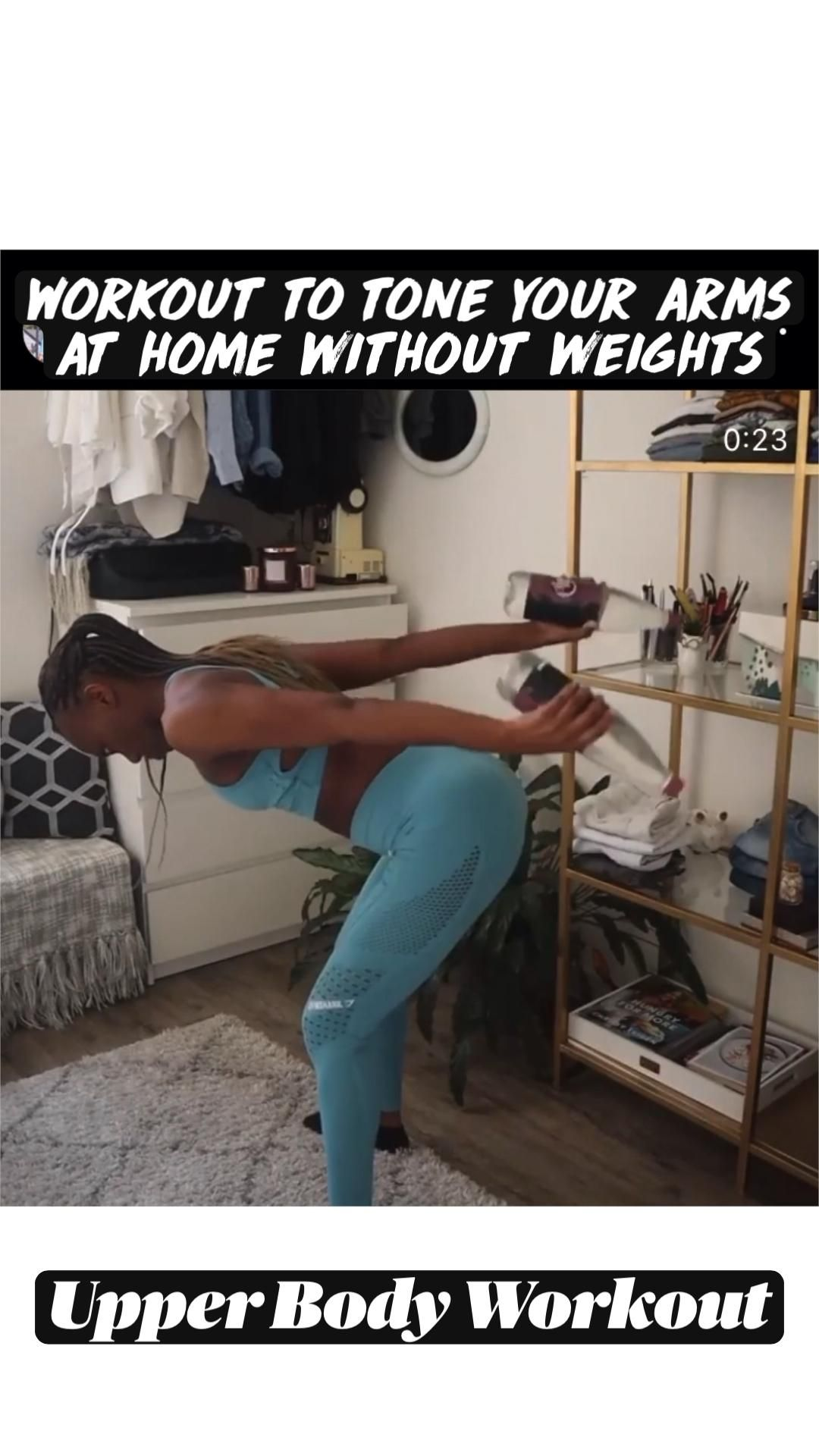 Workout to tone your arms  at home without weights