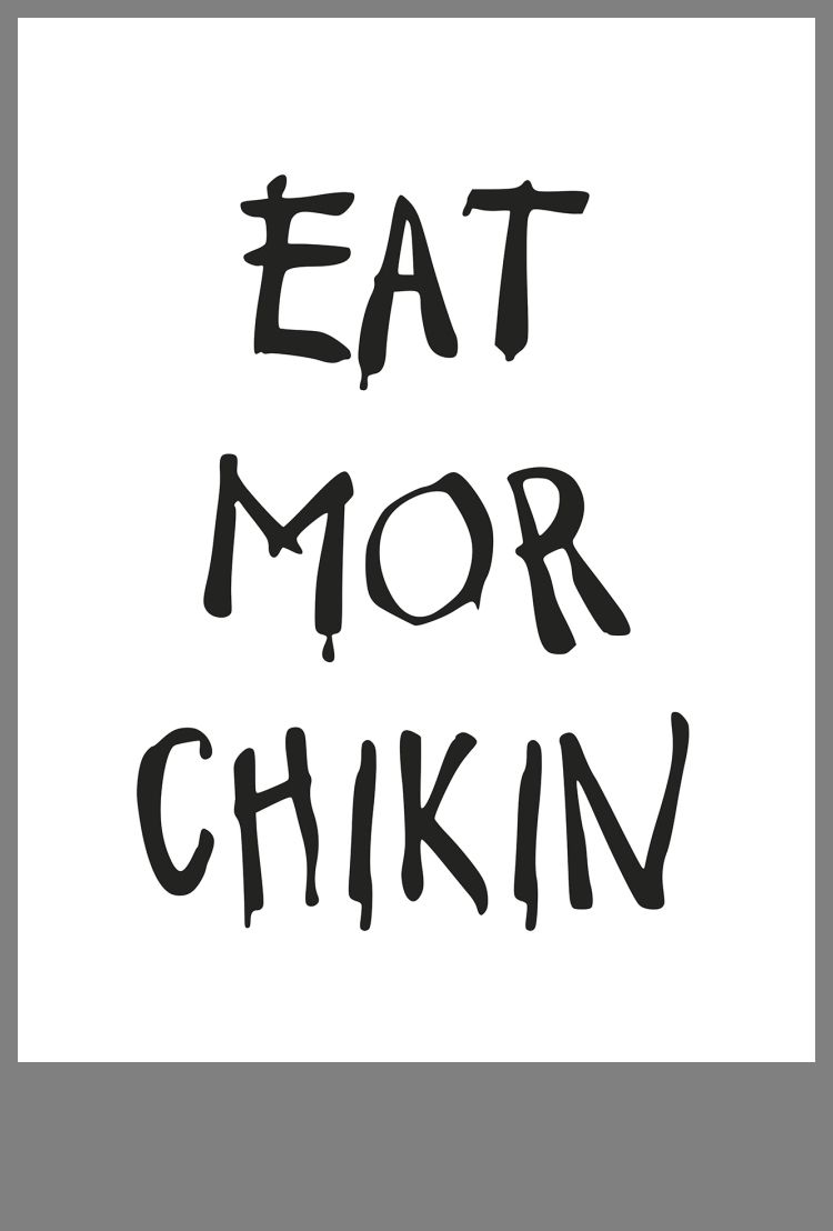 Eat Mor Chikin Printable Sign Sketch Coloring Page