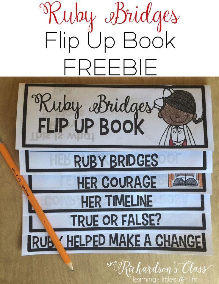Ruby Bridges Flip Up Book Black history month activities