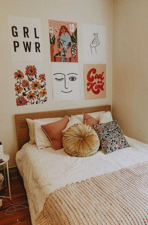 Mural de Fotos – mural de fotos, quarto decoração casa