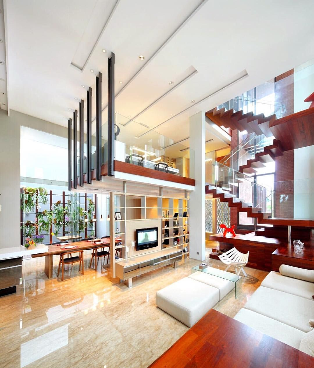 artfully designed loft space with a touch of greenery and rh pinterest com