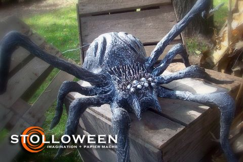how to make a paper mch spider