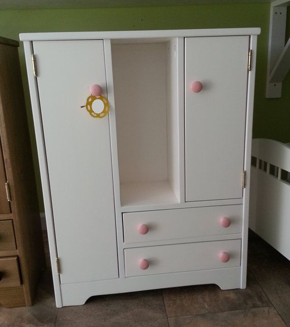 Wooden 18 Doll Cabinet Wardrobe Deluxe Wardrobe Measure 33H X 10D X 26W The  White Is Currently In The Making And Should Be Finished In