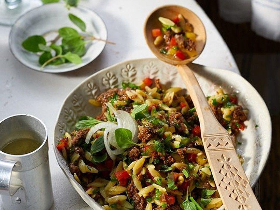 Kritharaki-Salat mit Hackfleisch von FrauMausE | Chefkoch