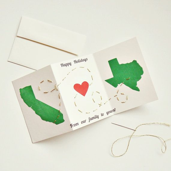 Holiday christmas long distance greeting card family any us holiday christmas long distance greeting card family any us states or m4hsunfo