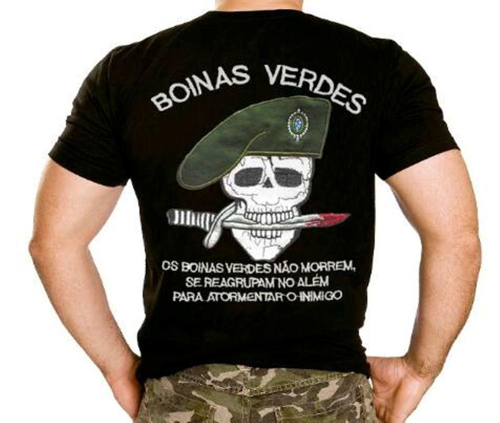 Camiseta Boinas Verdes- R  36 0d7f4b4b808