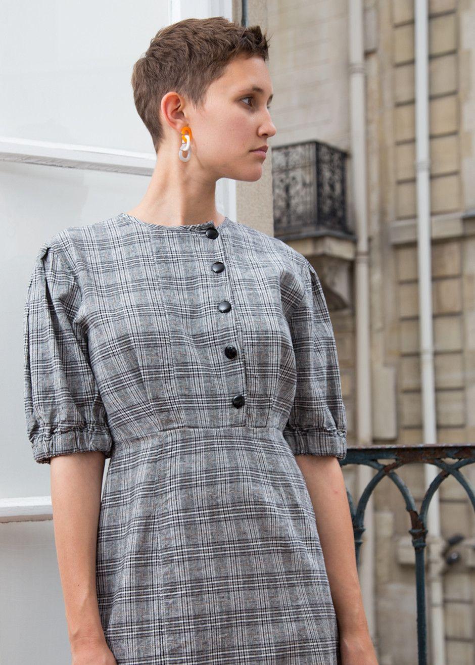 b3b760214c Grey Plaid Dress – The Frankie Shop