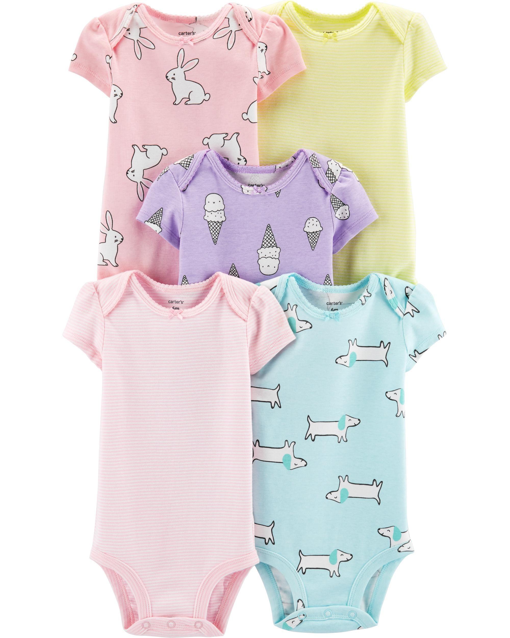 9c05fde6b823 5-Pack Animal & Ice Cream Original Bodysuits   Closet - Baby girl ...