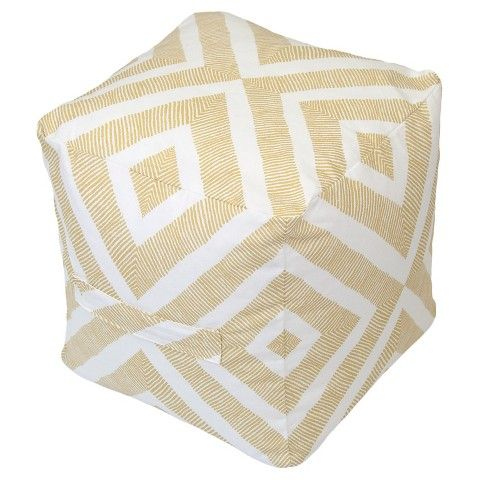 Outdoor Fabric Pouf Metallic Gold Geo Threshold™ Abode Kid Interesting Threshold Outdoor Pouf