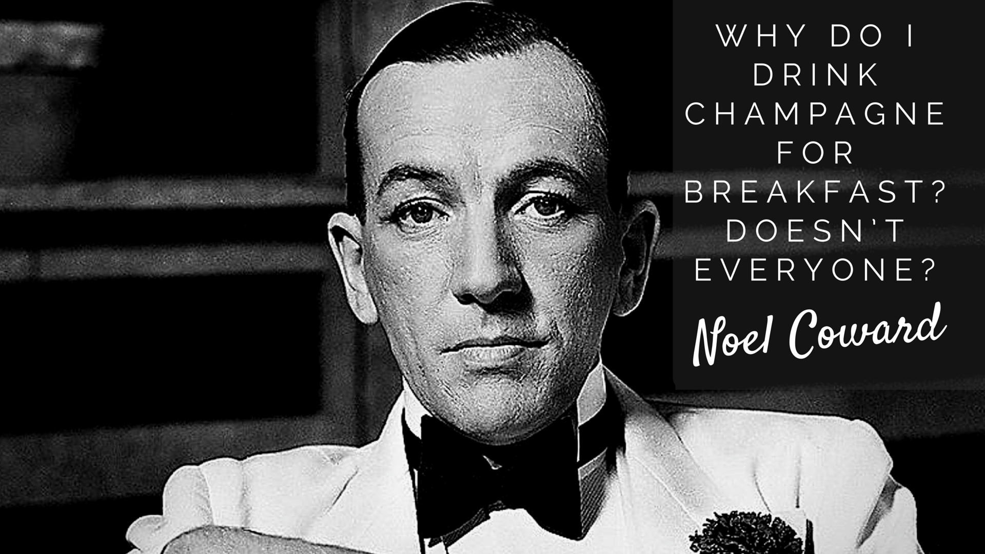 """Why do I drink Champagne for breakfast? Doesn't everyone?"""" Noel Coward - See more! http://www.homewetbar.… (With images) 