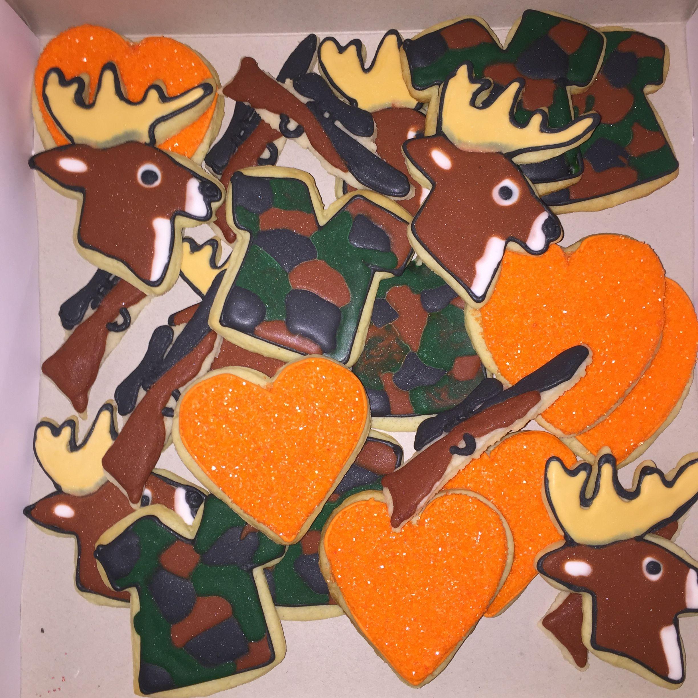 Hunting Hearts Decorated Sugar Cookies