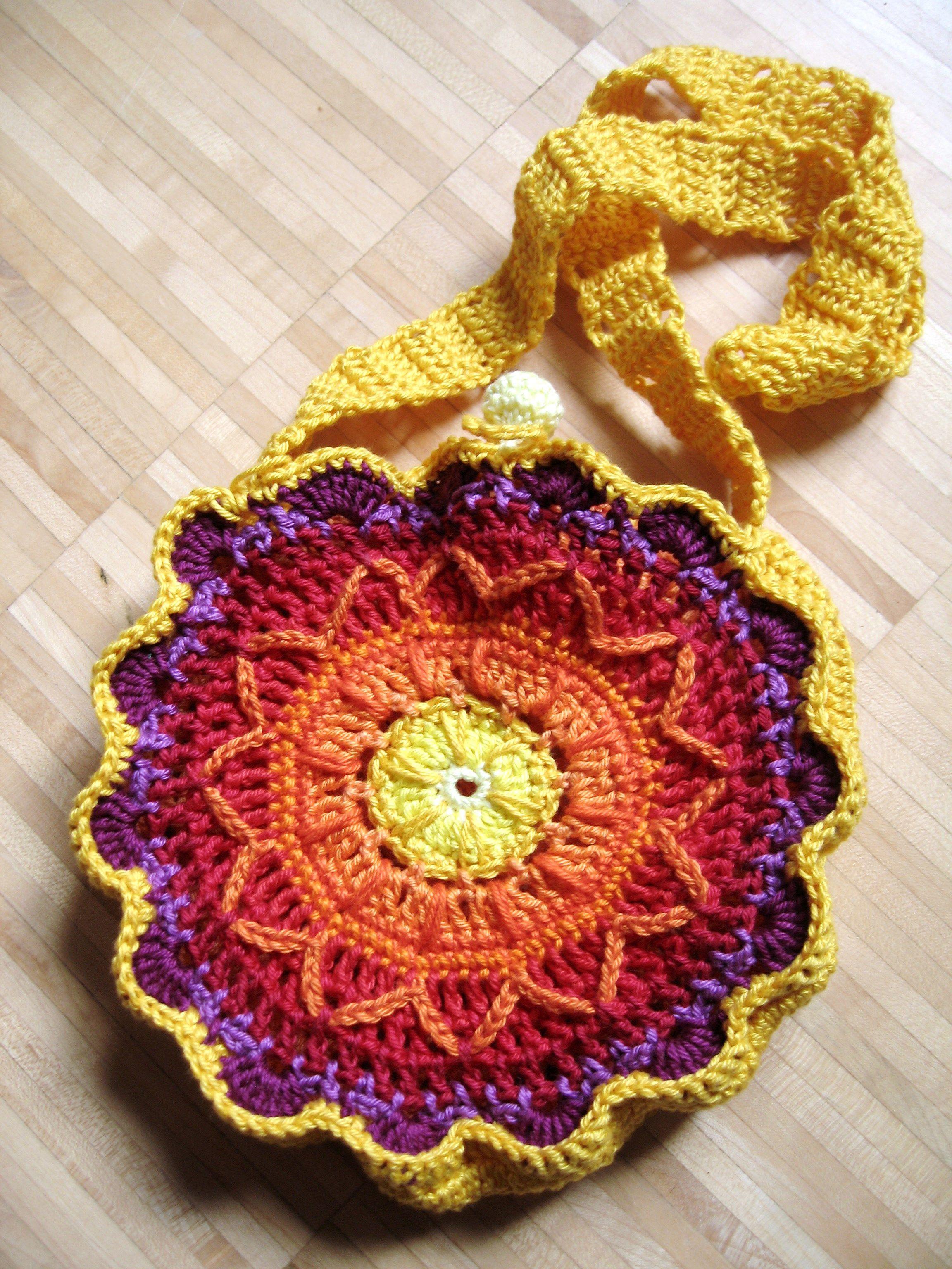 Crochet purse: free crochet pattern in English and German | crochet ...