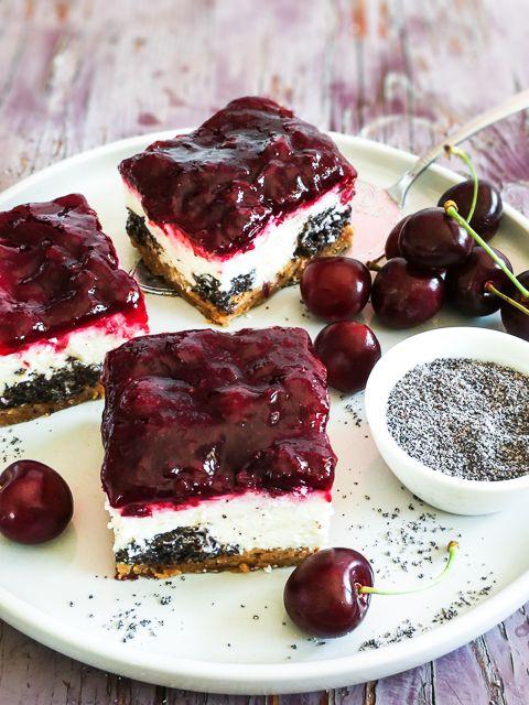 Kirsch Mohn Quark Kuchen Vom Blech Blogger Summer Vibes Kuchen