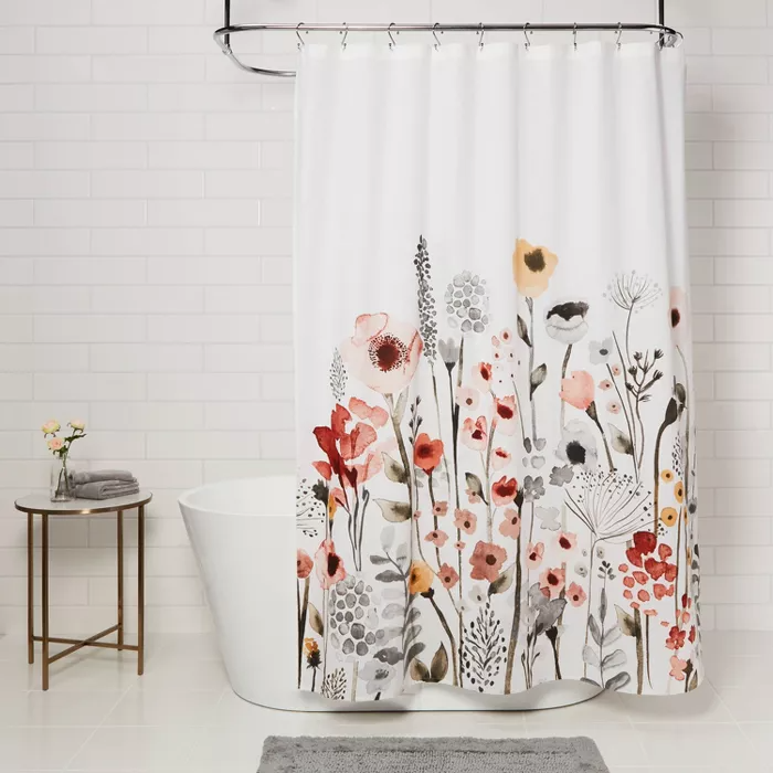 Floral Wave Shower Curtain White Threshold In 2020 White