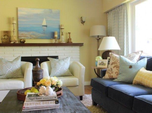 Anita S Pink Beige Yellow Living Room Before After Yellow Living Room Beige Living Rooms Living Room