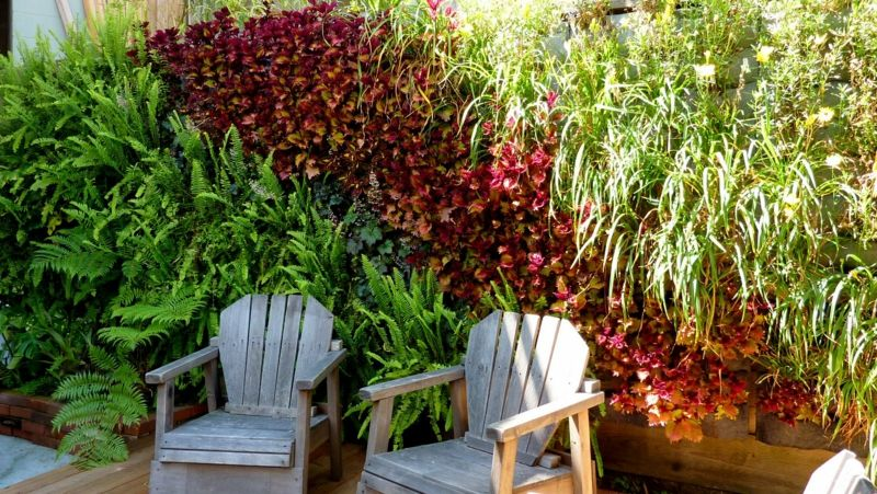Terrassen Garten Sichtschutz Aus Naturlichen Materialien Holz