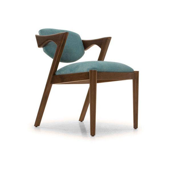 Joybird Morgan Mid Century Modern Gray Dining Chair 299 Liked On Polyvore Featuring