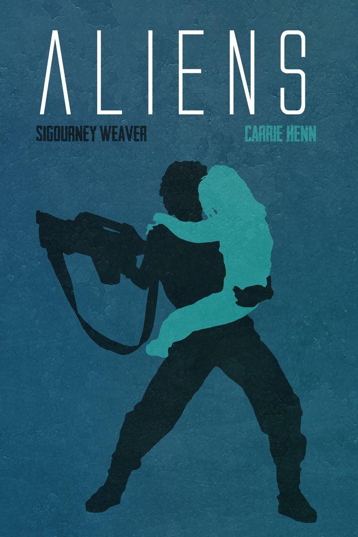 Aliens by Lewis Dowsett   Movies IMDB   Alien movie poster