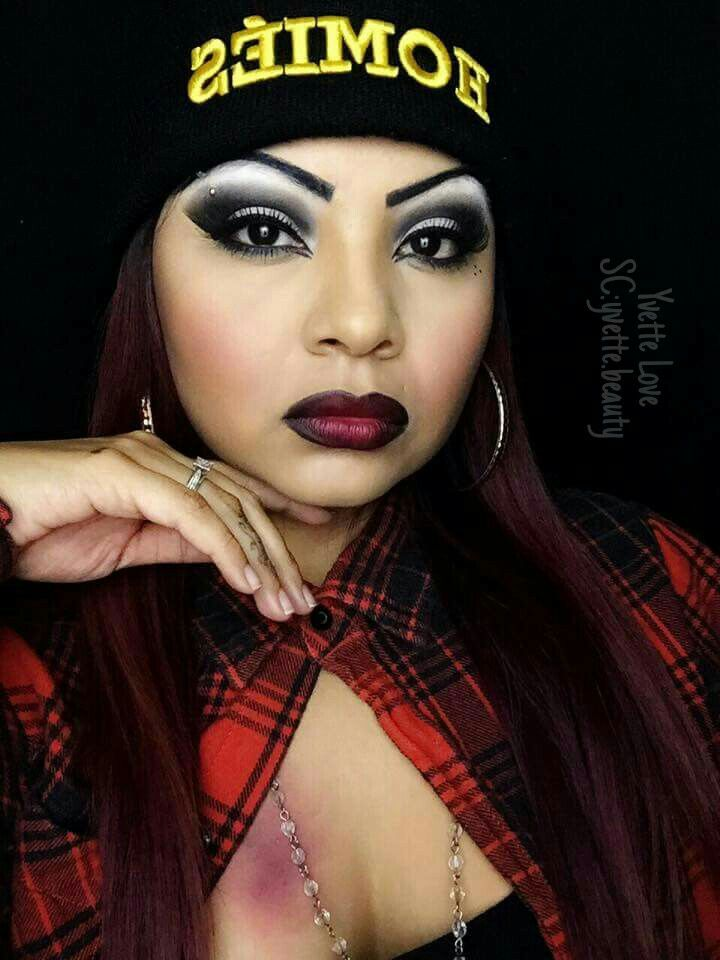 chola makeup look by yvette love hickies are not real