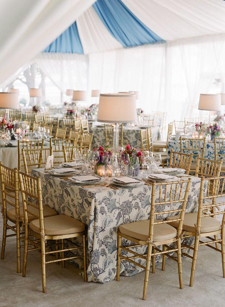 La Tavola Fine Linen Rental: Ajanta Tan Indigo Sky   Photography: Corbin Gurkin, Event Planning, Design & Florals: Tara Guerard Soiree, Rentals: Snyder Events