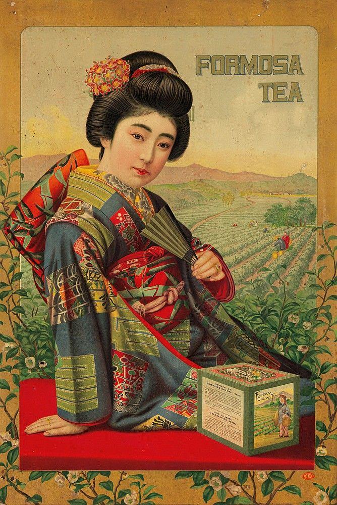Formosa Tea, Japan, ca. 1915... | Tea art, Vintage posters ...