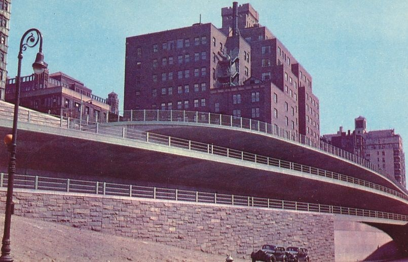 The Bethel Home 124 Columbia Heights With Thend New Brooklyn Queens Expressway Below It In 1950