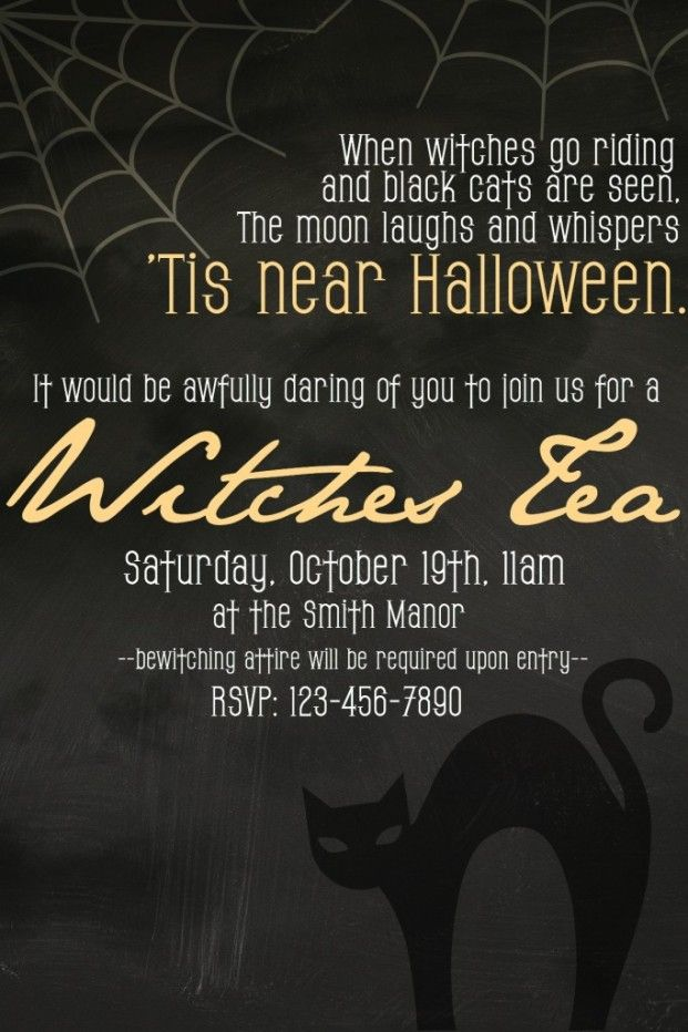 How to Host a Witches Tea Party Witches, Tea parties and Teas - halloween dance ideas
