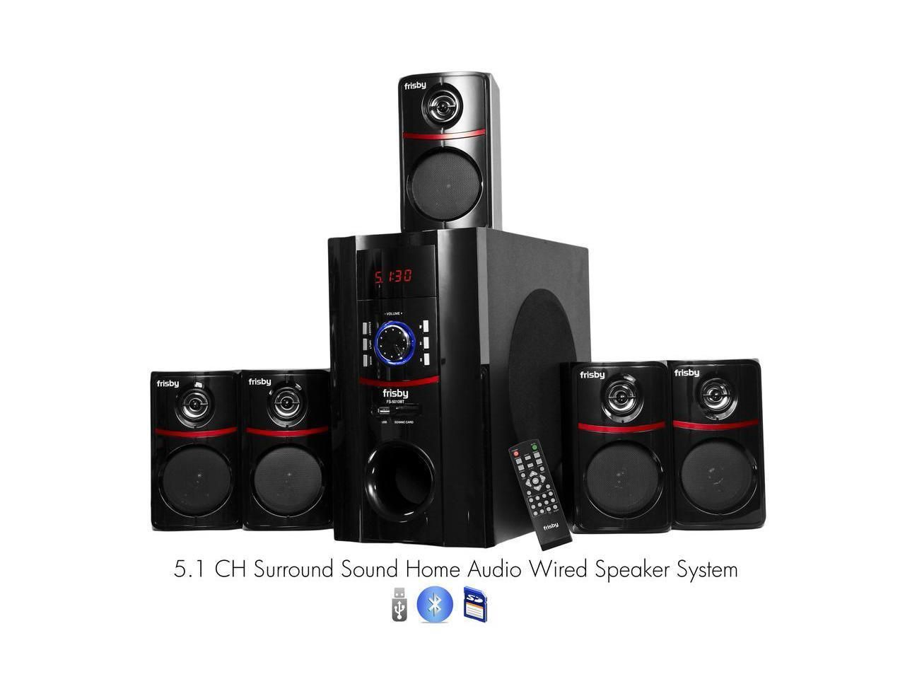 Frisby watt bluetooth surround sound home theater speaker system also rh in pinterest