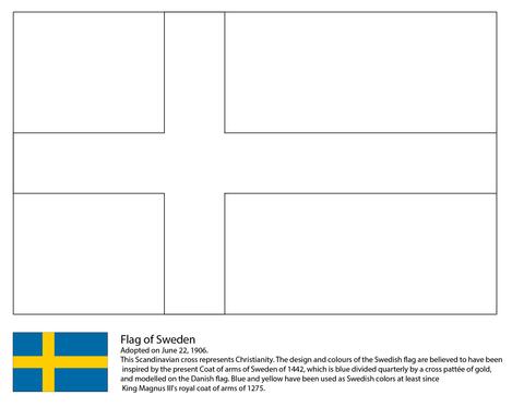 Schwedische Flagge Ausmalbild Schweden Pinterest Sweden Flag
