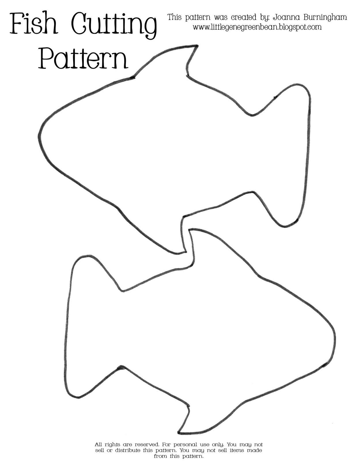 Fish Template Fish Outline Fish Patterns Fish Template
