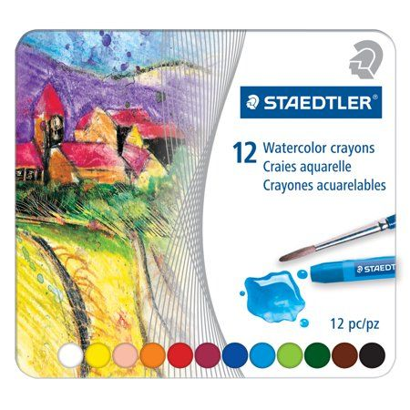 Staedtler Karat Watercolor Crayon Set 10 Colors Assorted