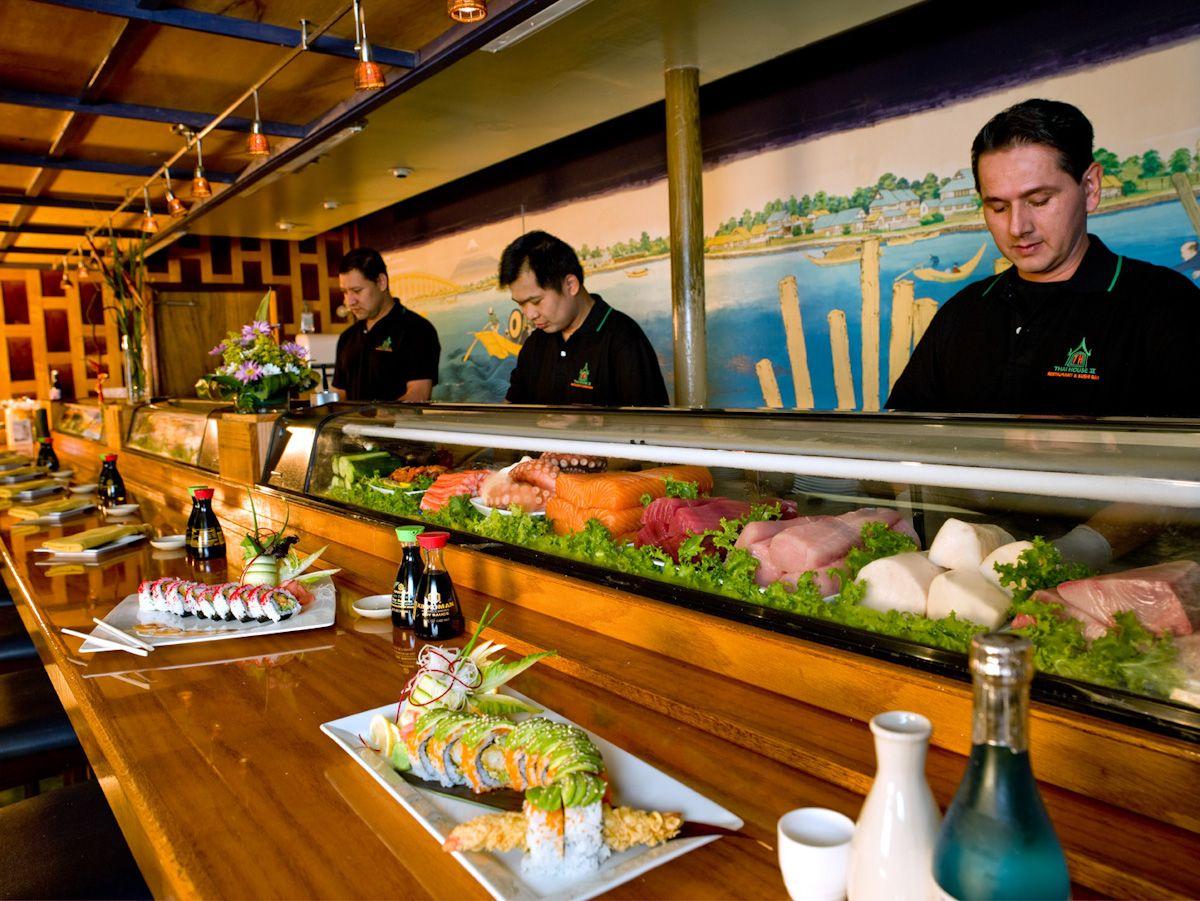 Sushi Bar | Sushi | Sushi restaurants, Sushi, Sushi bar design - photo#5