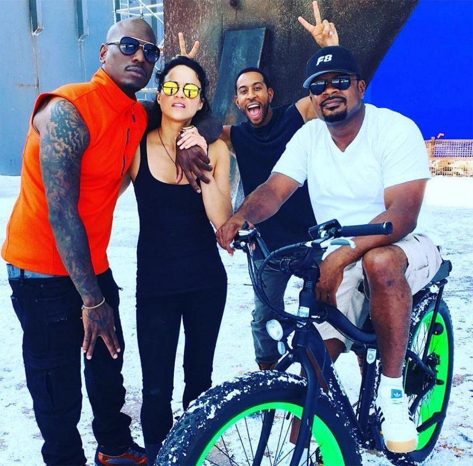 Pics photos tyrese gibson picture 8 - Explore Fast 8 Ride A Bike And More