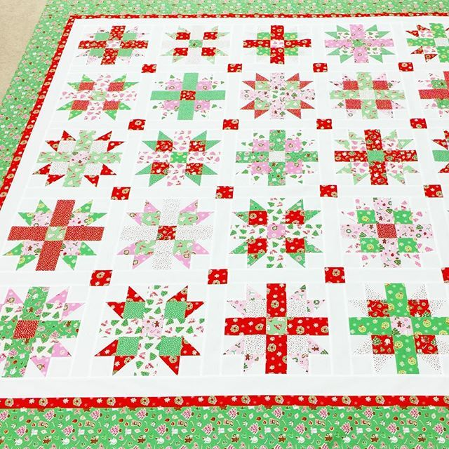 Starlit Joy quilt pattern made with Elea Lutz' Little Joys fabric ... : christmas quilt fabric collections - Adamdwight.com