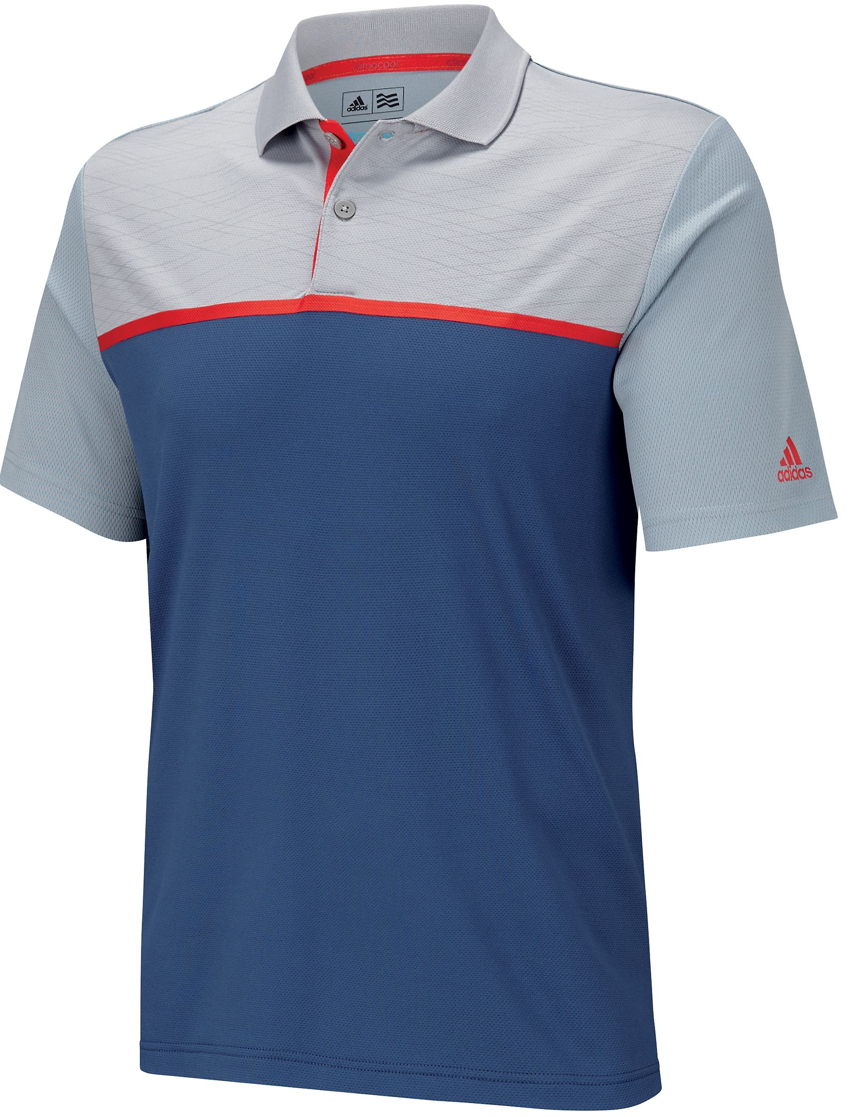 fca22d5a380dd Adidas Golf ClimaCool Energy Colorblock Polo Golf Shirt 2015 Closeouts Mens