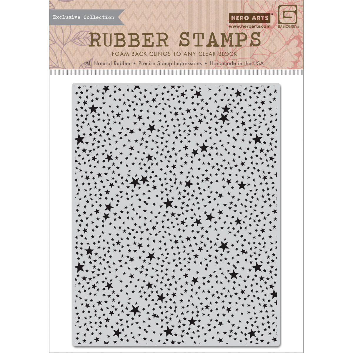 Hero arts rsvp cling stamps tiny star