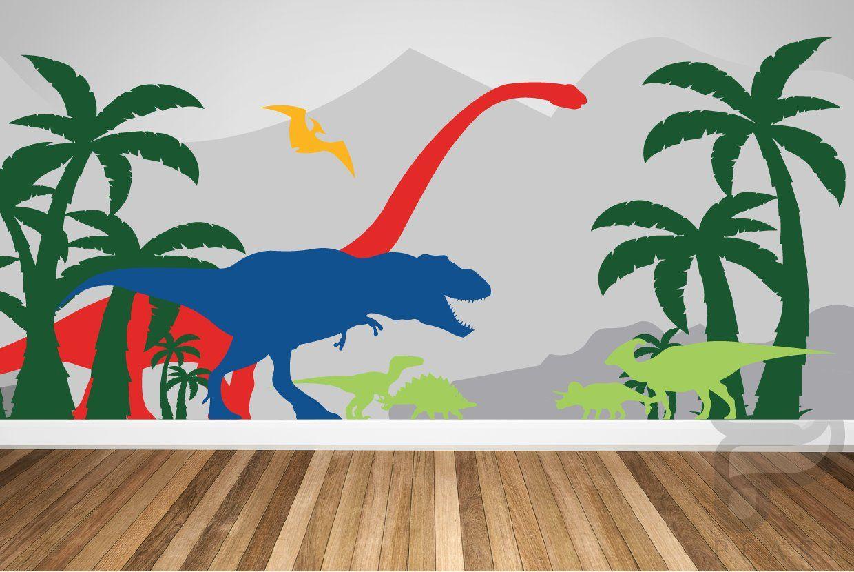 Big Dinosaur Wall Stickers Bedroom Nursery Kids Room Removable Decal Murals