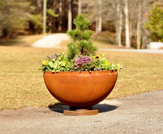 Photo of Fire Pit 30 inch Planter, FirePit, Fire Pits, FirePits, Garden Planter, Steel Fire Pit, Metal Fire Pit, Fire Bowl, Outdoor Fire Pit