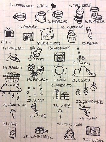Resultado De Imagem Para Desenhos Para Bullet Journal