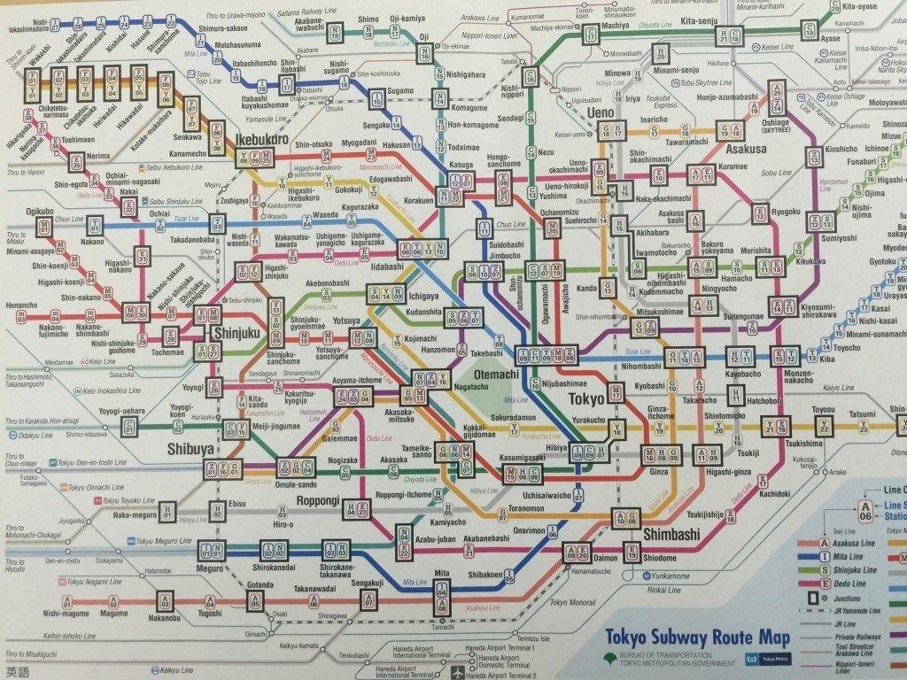 Making Sense Of The Tokyo Metro Tokyo Subway Train Map Japan Train