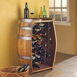 tonneau de rangement pour bouteille de vin barrique. Black Bedroom Furniture Sets. Home Design Ideas
