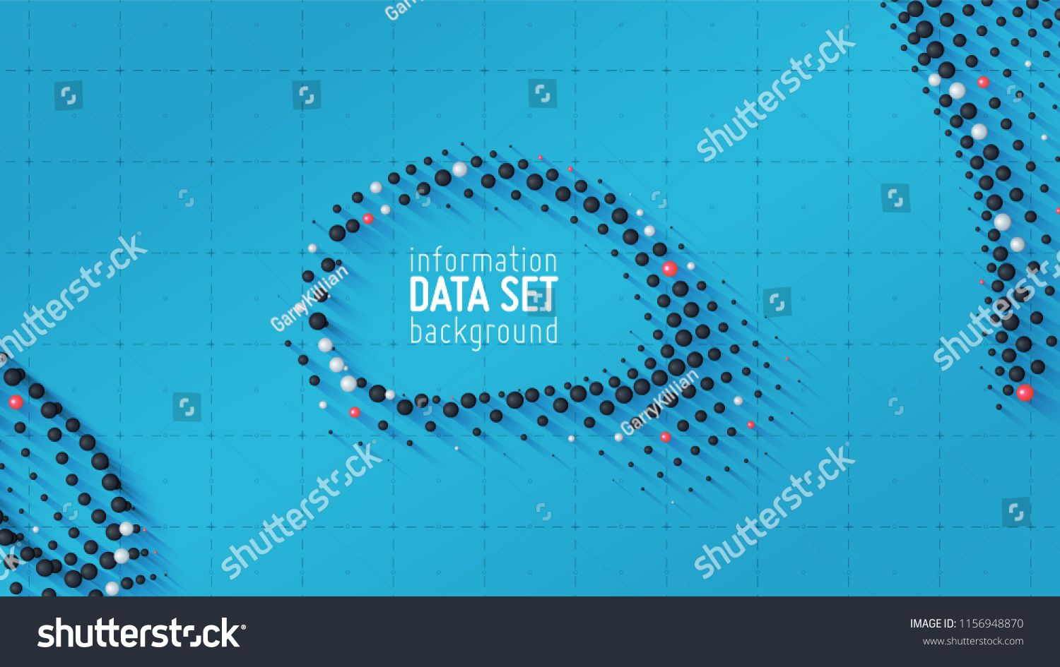 Vector Abstract Data Sorting Visualization Background Big Data